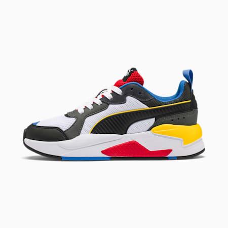 X-Ray Youth Sneaker, Wht-Blk-Dk Shdw-Dandelion-Rd, small