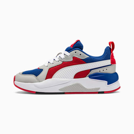 X-Ray Youth Trainers, Royal-High Rise-Wht-Red-Blk, small