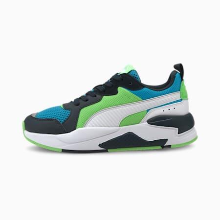 Młodzieżowe buty sportowe X-Ray, Blue-White-Peacoat-Green, small