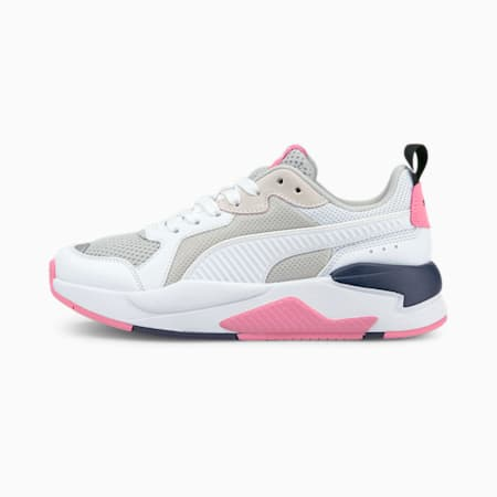 X-Ray Youth Trainers, Puma White-Puma White-Gray Violet-Sachet Pink-Peacoat, small-GBR