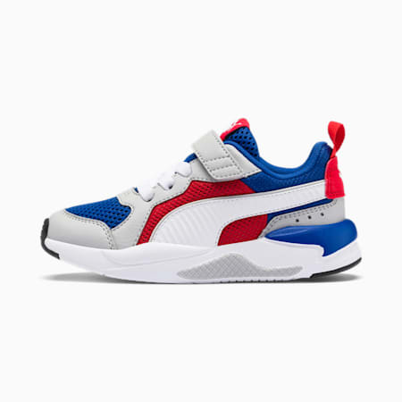X-Ray AC PS Kid's Sneakers, Royal-High Rise-Wht-Red-Blk, small-IND