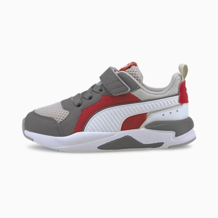 X-Ray AC PS Kid's Shoes, Gray Violet-Puma White-Ultra Gray-High Risk Red, small-IND