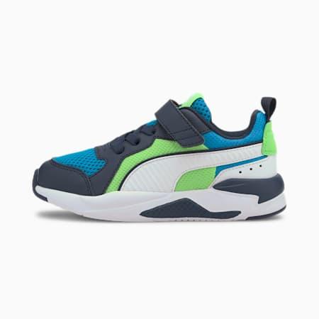 X-Ray AC sportschoenen voor kinderen, Blue-White-Peacoat-Green, small