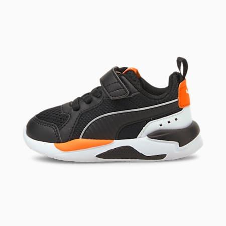 Zapatos X-RAY para bebés, Puma Black-Puma Black-Puma White-Vibrant Orange-Puma Silver, pequeño