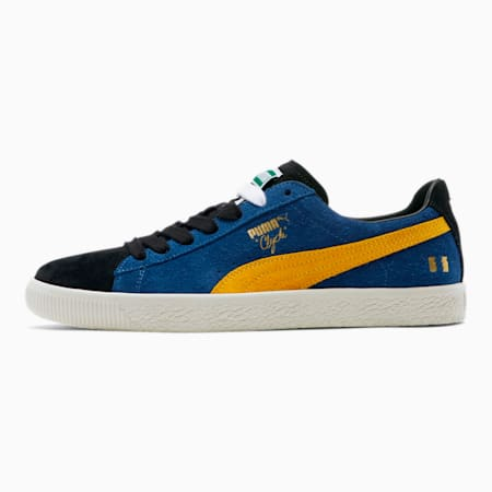 PUMA x THE HUNDREDS Clyde Men's Trainers, Sodalite Blue-Spectra Yellow, small-SEA