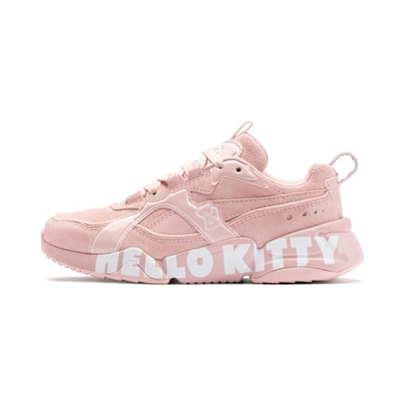 PUMA x HELLO KITTY Nova 2 Kids' Girls' Trainers, Silver Pink-Puma White, small-SEA