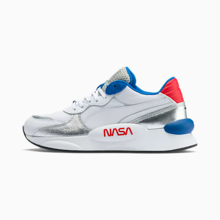 RS 9.8 Space Explorer Youth Trainers, Puma White-Puma Silver, small