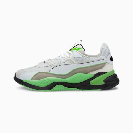 RS-2K Messaging Men's Sneakers, Puma White-Elektro Green, small