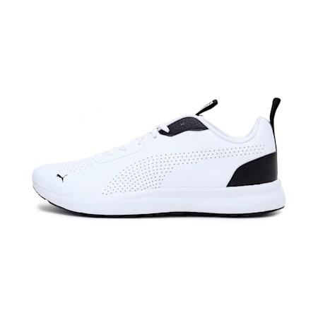 Puma Perforated Low Men's  IDP Shoes, Puma White-Puma Black, small-IND