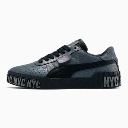 Cali Pewter NYC Holiday Women's Sneakers, Puma Black-Puma Aged Silver, small