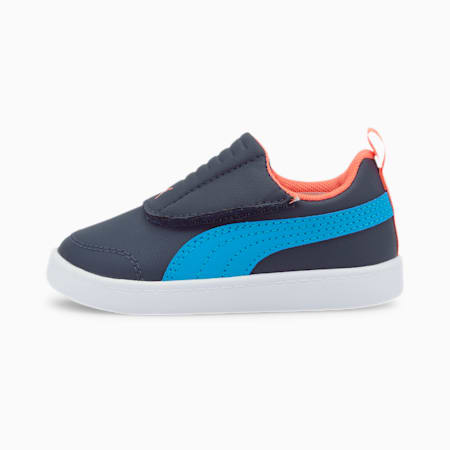 Courtflex v2 Padded Babies' Trainers, Peacoat-Dresden Blue, small-SEA