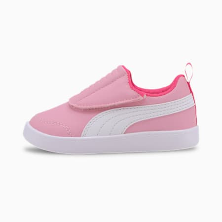 Courtflex v2 Padded Babies' Trainers, Pale Pink-Puma White, small-SEA