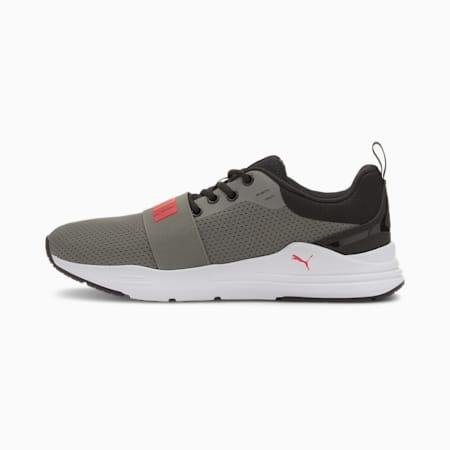 PUMA Wired Run IMEVA Shoes, Ultra Gray-High Risk Red, small-IND