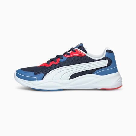 90s Runner Nu Wave Unisex  Shoes, Peacoat-Puma White-Star Sapphire-High Risk Red, small-IND