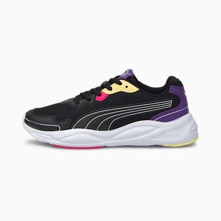 90s Runner Nu Wave Unisex  Shoes, Puma Black-Puma Black-Prism Violet-Beetroot Purple, small-IND