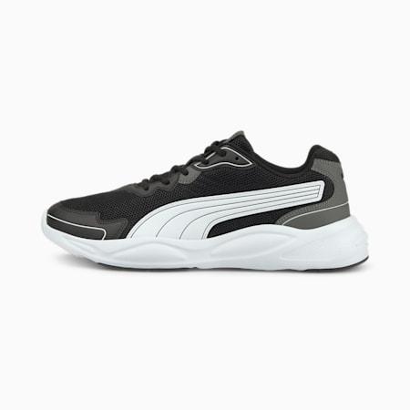 90s Runner Nu Wave Unisex  Shoes, Puma Black-Puma White-Dark Shadow, small-IND
