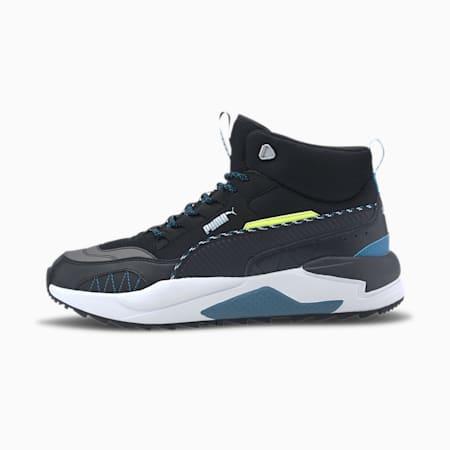 X-Ray 2 Square Mid WTR Sneaker, Black-Digi-blue-Fizzy Yellow, small