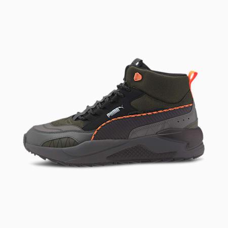 X-Ray 2 Square Mid WTR Trainers, Forest Night-Puma Black-Dark Shadow-Ultra Orange, small