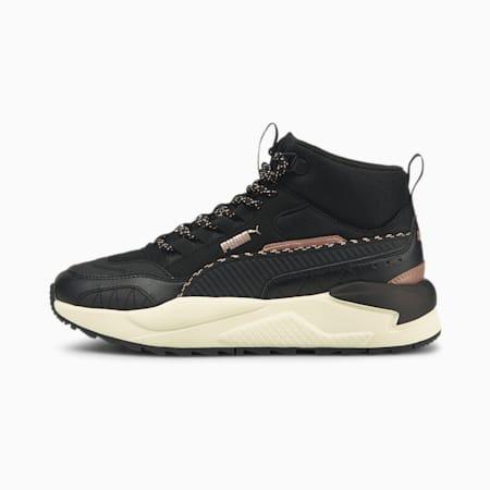 Zapatos deportivos de invierno de media caña X-RAY 2 Square, Puma Black-Puma Black-Rose Gold-Whisper White, pequeño