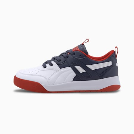 Backcourt SL Trainers, Puma White-White-Peacoat-Red, small-SEA