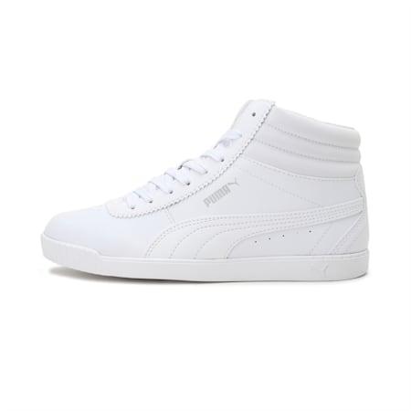 Carina Slim Mid SoftFoam+ Women's Sneakers, Puma White-Puma White, small-IND