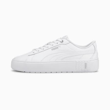 PUMA Smash Platform v2 Women's Sneakers, Puma White-Puma White, small-IND