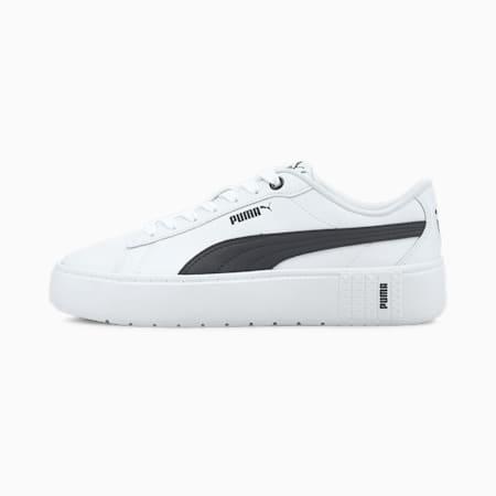 PUMA Smash Platform v2 Women's Sneakers, Puma White-Puma Black, small