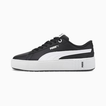 PUMA Smash Platform v2 Women's Sneakers, Puma Black-Puma White, small
