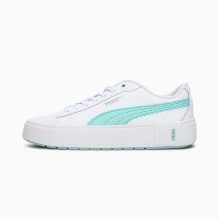 PUMA Smash Platform v2 Women's Sneakers, Puma White-Eggshell Blue, small-IND