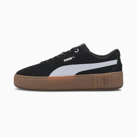PUMA Smash Platform v2 Suede Women's Sneakers, Puma Black-Puma White-Gum, small