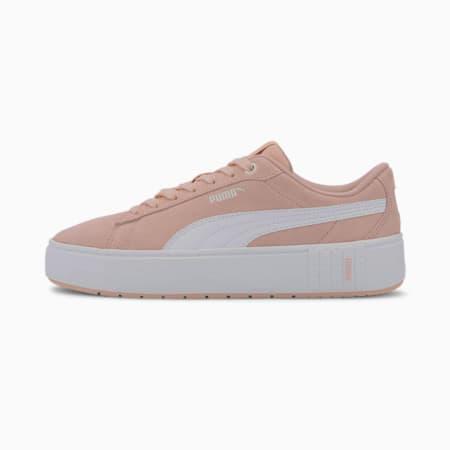 PUMA Smash Platform v2 Suede Women's Sneakers, Peachskin-Puma White, small
