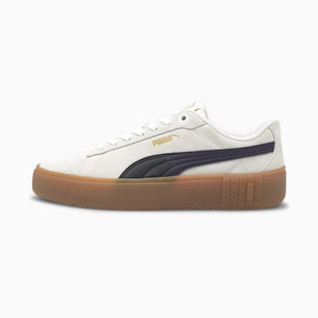 Smash Platform v2 SD Women's Trainers, Puma White-Puma Black-Gum, small