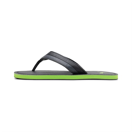 Tsukisho Men's Flip Flops, Puma Black-Limepunch, small-IND