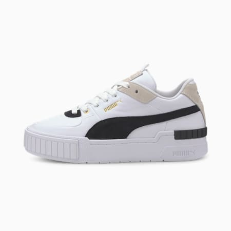 Cali Sport Heritage Women's Trainers, Puma White-Puma Black, small