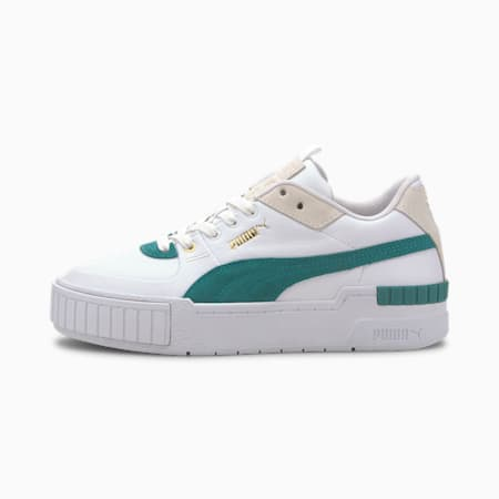 Cali Sport Heritage Women's Sneakers, Puma White-Teal Green, small