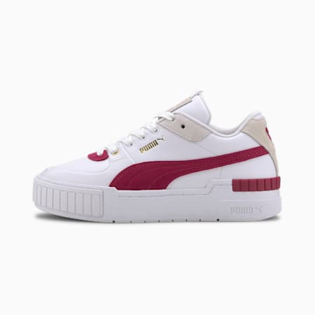 Cali Sport Heritage Damen Sneaker, Puma White-CERISE, small