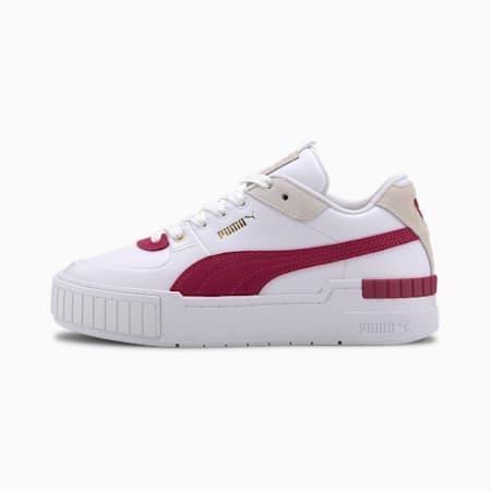 Cali Sport Heritage Women's Sneakers, Puma White-CERISE, small