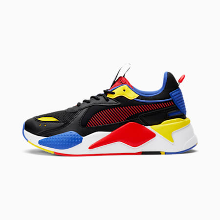 RS-X Core Sneakers JR, Black-Poppy Red-DazzlingBlue, small