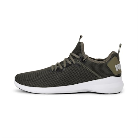 Corode Men's Running Shoes, Burnt Olive-Puma Black-Silver, small-IND