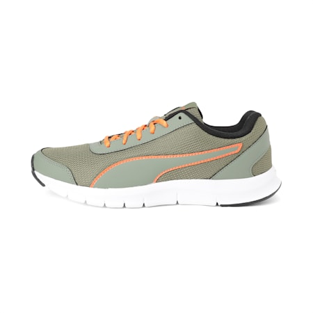 Bent IDP Men's Running Shoe, Olivine-Vibrant Orange, small-IND
