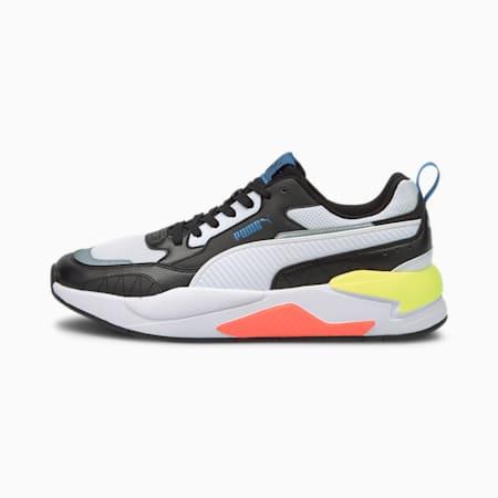 X-Ray 2 Square IMEVA SoftFoam+ Shoes, Puma Black-Puma White-Star Sapphire-SOFT FLUO YELLOW, small-IND