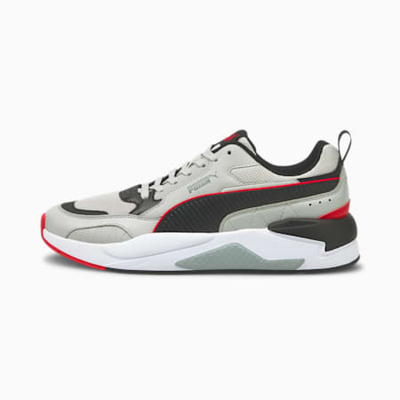 X-Ray 2 Square Trainers, Gray-Black- Red-Quarry, small-GBR