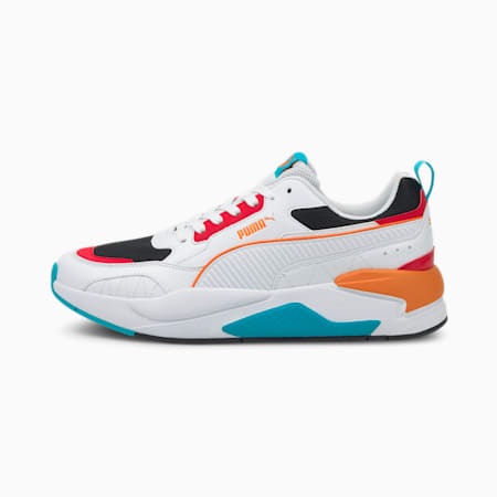 X-Ray 2 Square Trainers, Whi-Whi-Orange-High Risk Red, small-GBR