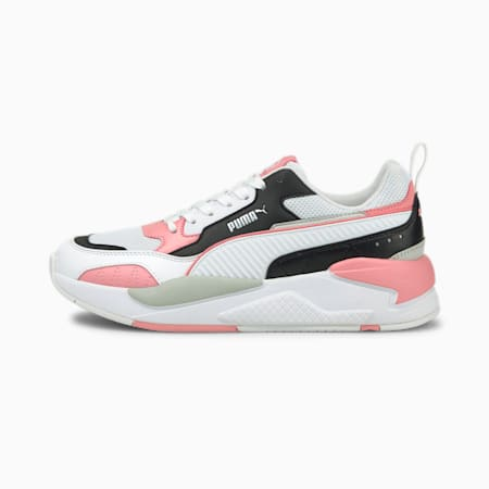 X-Ray 2 Square Trainers, White-Black-Peony-GrayViolet, small-GBR