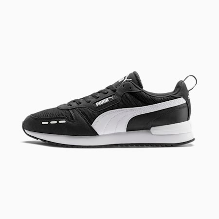 PUMA R78 Men's Sneakers, Puma Black-Puma White, small