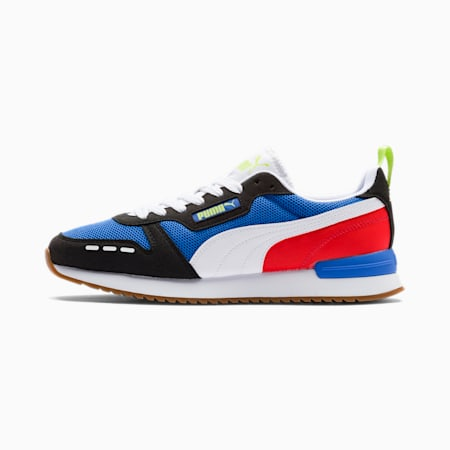 R78 Runner Trainers, Palace Blue-Black-White, small