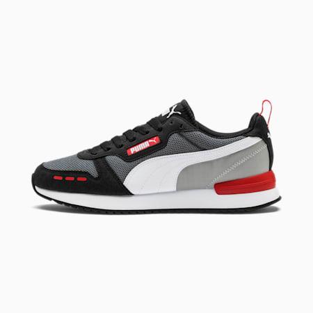 R78 Runner Sneaker, CASTLEROCK-Black-White, small