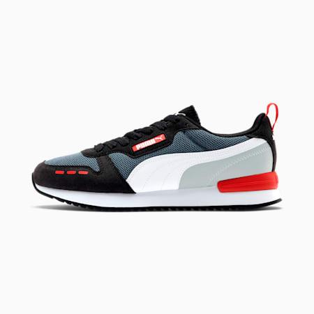 Zapatos deportivos PUMA R78, CASTLEROCK-Black-White, pequeño