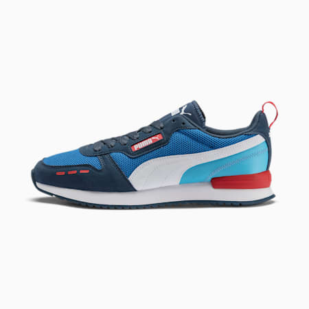 R78 Runner Trainers, Palace Blue-Dark Denim-White, small