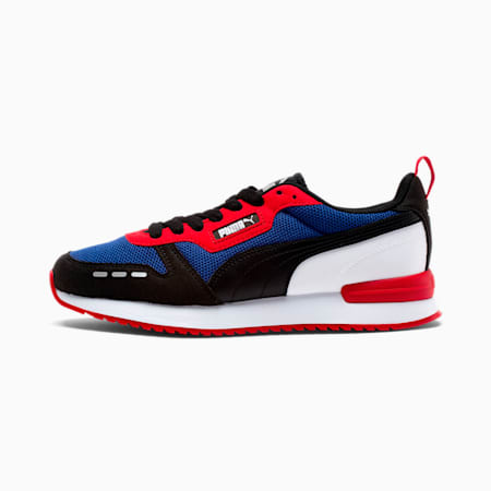 R78 Runner Trainers, Limoges-Black-High Risk Red, small-SEA